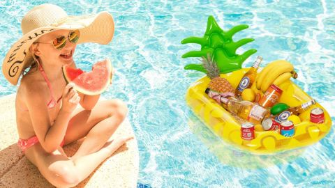 Vickea Inflatable Pineapple Drink Holder