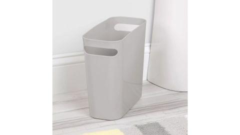 mDesign Slim Plastic Wastebasket With Handles, 2-Pack