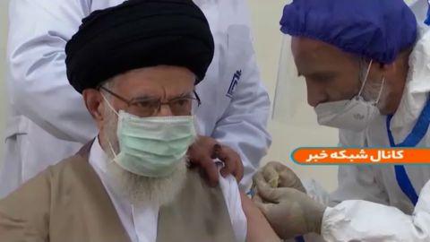 Iran's Supreme Leader Seyyed Ali Khamenei received his first dose of the Iranian-developed Covid-19 vaccine known as the CovIran Barekat vaccine.