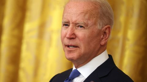 WASHINGTON, DC - JUNE 25: U.S. President Joe Biden delivers remarks during an event commemorating LGBTQ+ Pride Month in the East Room of the White House on June 25, 2021 in Washington, DC. Biden celebrated the accomplishments of past and present LGBTQ+ public service leaders and said there was still more work to be done. (Photo by Chip Somodevilla/Getty Images)