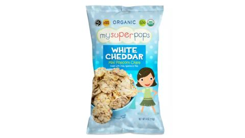 My Super Pops Popcorn Chips, White Cheddar