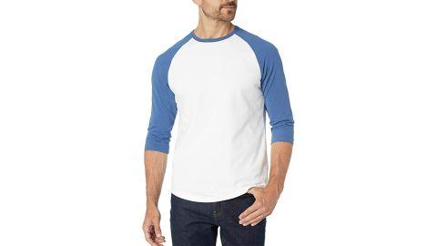 Amazon Essentials Men's 3/4 Sleeve Baseball T-Shirt