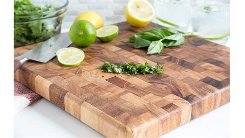 Ironwood Gourmet 28218 Square Charleston End Grain Chef's Board, Acacia Wood