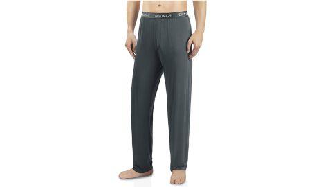 David Archy Men's Bamboo Long Pants Loungewear Sleep Bottoms, 2-Pack