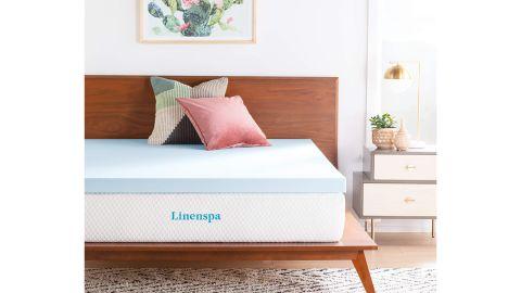Linenspa 3-Inch Gel-Infused Memory Foam Mattress Topper