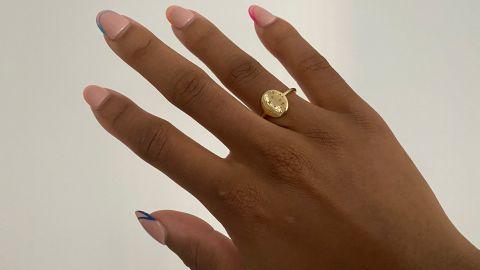 Rellery Aquarius Zodiac Signet Ring