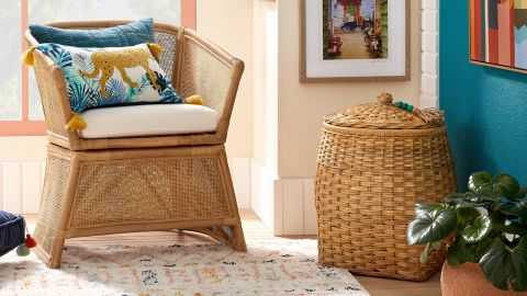 Opalhouse Designed With Jungalow Rattan Basket with Tassel Lid