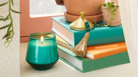 Opalhouse Designed With Jungalow Glass Jar Teal Tropic Oasis Candle
