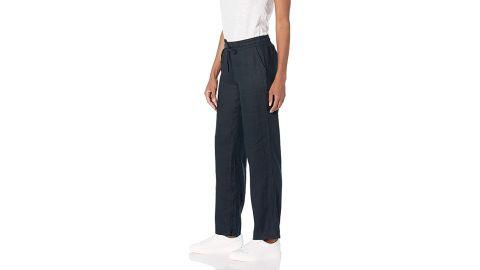 Amazon Essentials Drawstring Linen Wide-Leg Pant