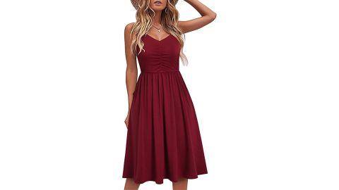 Yathon Sleeveless Cotton Summer Beach Dress