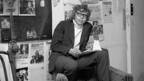 A young Branson is seen in London in 1969. At the age of 16, Branson dropped out of school and started an alternative youth magazine called Student. He and his friend Nik Powell also started a mail-order record business. It was called Virgin because they were new to the business world.