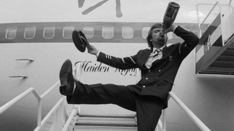 Branson inaugurates his new airline on June 22, 1984.