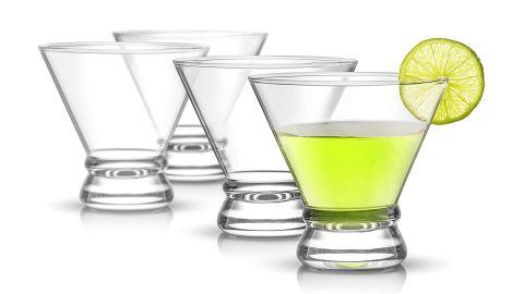 JoyJolt Afina Martini Glasses, Set of 4