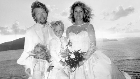 Branson is seen with his wife, Joan, and their children, Holly and Sam, after they were married on the Caribbean island of Neckar in 1989. The island, part of the British Virgin Islands, was purchased by Branson and is operated as a luxury resort.