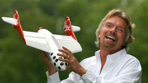 Branson announced his space tourism venture, Virgin Galactic, in 2004.
