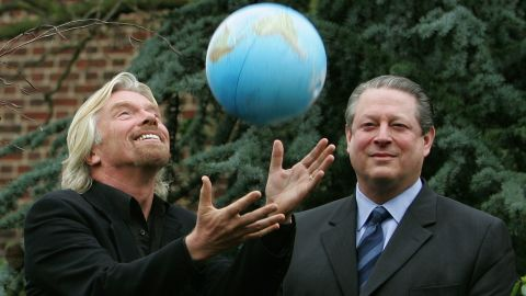 Branson and former US Vice President Al Gore announce the Virgin Earth Challenge in 2007. The Virgin Earth Challenge was a $25 million prize to be awarded to an individual or a group who could demonstrate a commercially viable design to remove greenhouse gases from the atmosphere and safely store them. The prize was never awarded, as Virgin said no entries satisfied all of the prize criteria, and the challenge is no longer active.