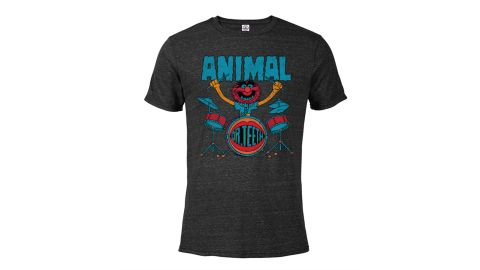 Animal Short-Sleeve Blended T-Shirt for Adults