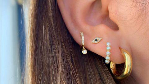 Van Der Hout Diamond Evil Eye Stud Earring