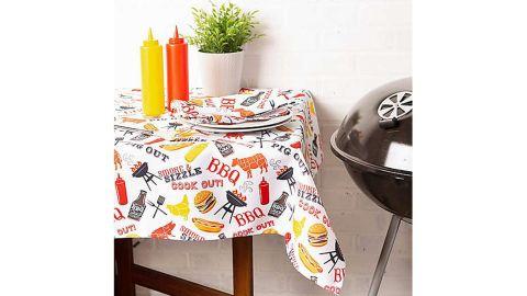 BBQ Fun Umbrella Tablecloth With Zipper