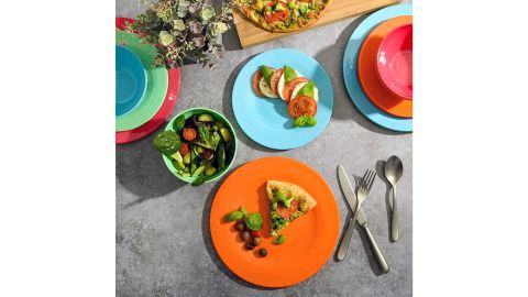 Gibson Home Brist Melamine Dinnerware, Set of 4