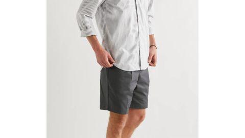 Mr P. Pleated Cotton-Twill Shorts