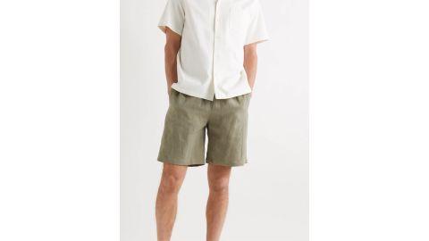 De Bonne Facture Washed Linen-Canvas Drawstring Shorts