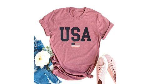 Mupaolo USA Flag T-Shirt