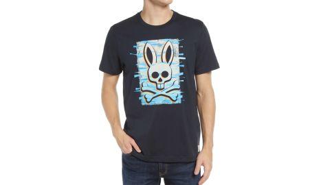 Psycho Bunny Men's Wave Logo Graphic Tee