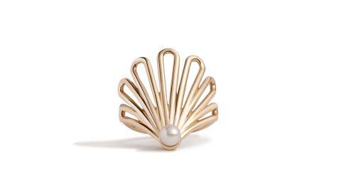 Deco Fan Pearl Ring
