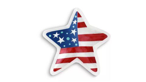 Demdaco Patriotic Star Platter Multi