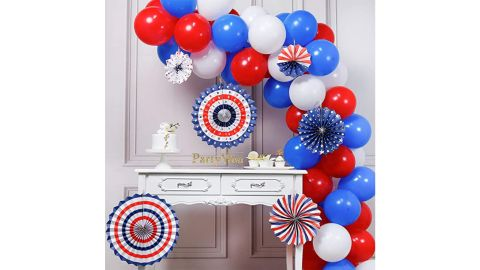 PartyWoo Red, White and Blue Balloons