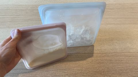 Making ice cream in Stasher bags