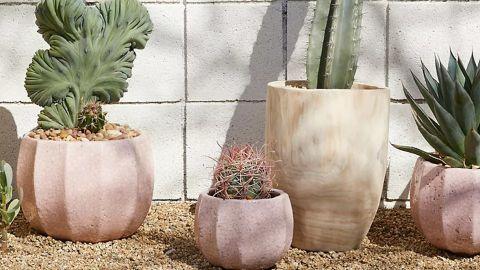 Ridged Terracotta Pot