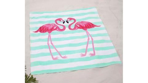 Lakeside Collection Flamingos Oversized Beach Towel