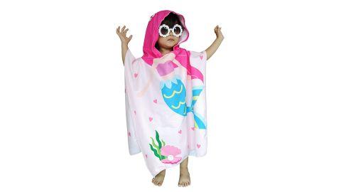 Athaelay Mermaid Hooded Beach Towel