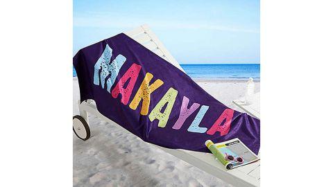 All Mine! Personalized Beach Towel