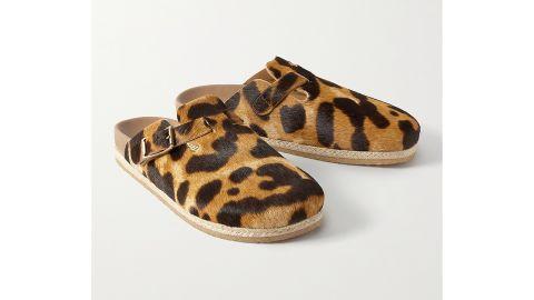 Yuketen Sal 1 Leopard Print Calf Hair Slides