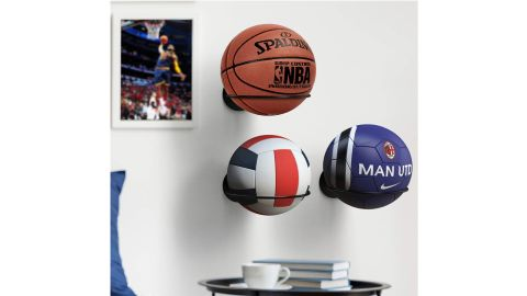 Kesito Wall-Mount Holder for Basketball/Volleyball/Soccer Ball