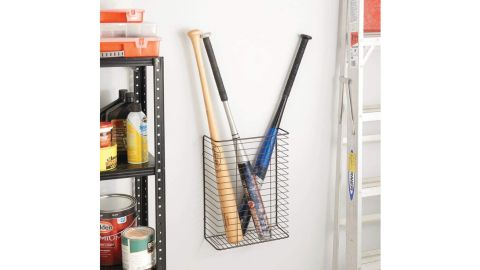 mDesign Metal Wire Wall-Mount Storage Organizer