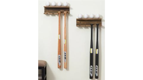Danton Baseball Bat and Ball Wall-Mounted Rack, Set of 2