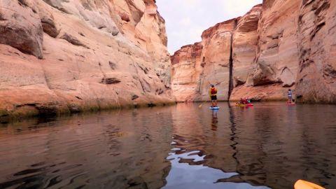 Kayaks and paddleboards navigate their way into Antelope Canyon