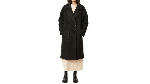 Bernardo Oversize Double-Breasted Faux Fur Coat