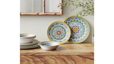 Certified International Portofino 12-Piece Melamine Dinnerware Set