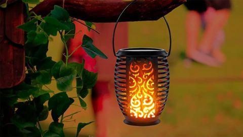 LazyBuddy Solar Torch Lights Outdoor