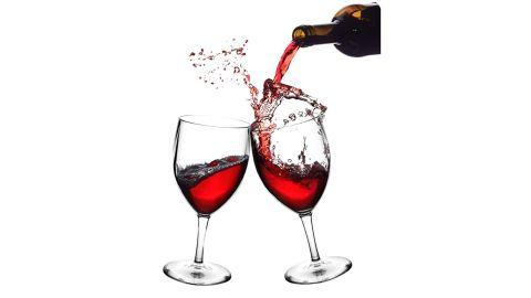 RB Red Wine Glasses, Set of 6