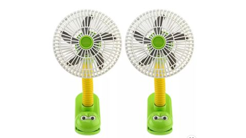O2Cool Battery-Powered Portable Clip Fan, 2-Pack