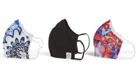 Vera Bradley Double-Layer Cotton Face Mask, 3-Pack