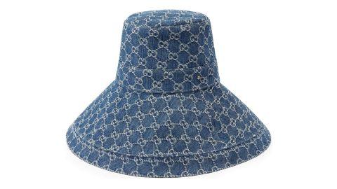 Gucci Gg Supreme Denim Wide-Brim Hat