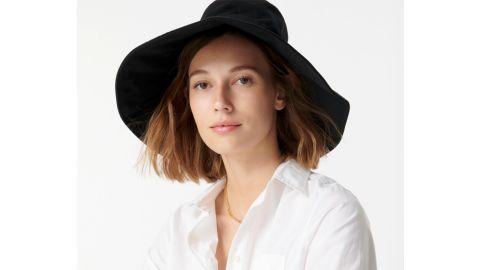 J.Crew Wide-Brim Bucket Hat With UV Coating