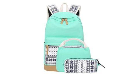 School Backpacks for Teen Girls Lightweight Canvas Backpack